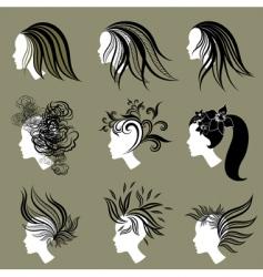 vintage girls vector image vector image