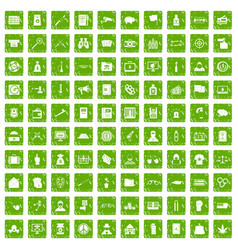 100 criminal offence icons set grunge green vector image vector image
