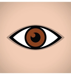 Abstract eye icon brown vector