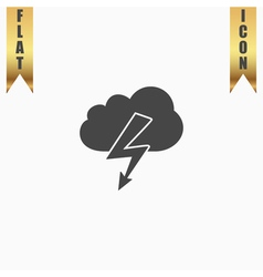 Cloud lightning icon vector