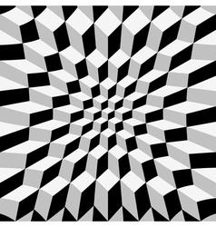 Abstract op art vector image
