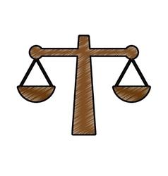 Justice balance icon image vector