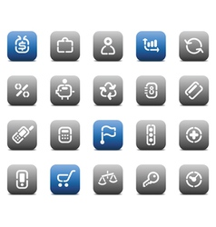 Stencil matt buttons for business vector