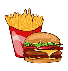 colorful fast food concept vector image