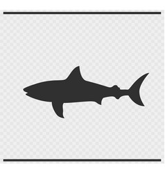 Fish icon black color on transparent vector