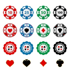 Gambling chips 2 vector
