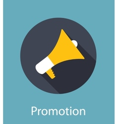 Promotion flat concept icon vector