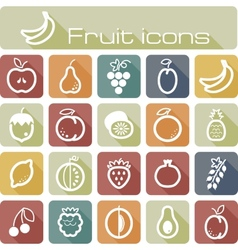 Icons set fruits vector image