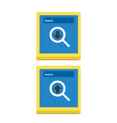 Download And Upload Icons 56 vector image