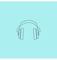 Retro headphone vector