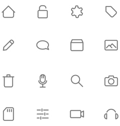 Set icons multimedia vector