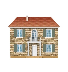 Old country house with a stone wall vector