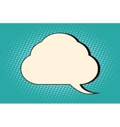 Comic bubble cloud silhouette vector