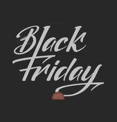 black friday sale lettering elegant modern vector image