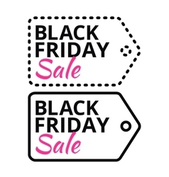 Black Friday sales line tag with text vector image