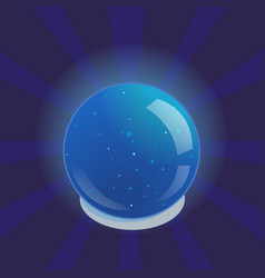 blue glowing magic ball vector image vector image