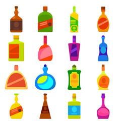 bottles types icons set cartoon style vector image