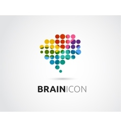 Brain Creative mind head learning icon vector image vector image