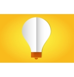 Bulb lamp flat style icon isolated vector image