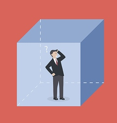 Businessman in the box vector