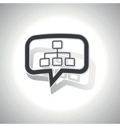 Curved scheme message icon vector