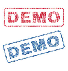 demo textile stamps vector image vector image