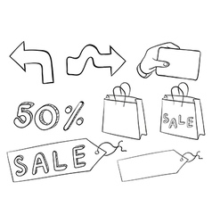 Different doodle signs vector image