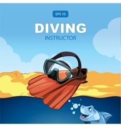 Diving background vector