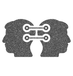 Dual heads interface connection grainy texture vector