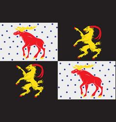 Flag of gavleborg is a county on the baltic sea vector