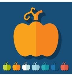 Flat design pumpkin vector