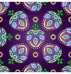 Floral dark violet seamless pattern vector image vector image