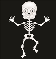 Funny skeleton cartoon vector