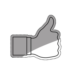 hand like thumb up vector image