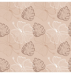 lace hibiscus pattern vector image vector image