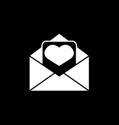 love letter icon vector image vector image