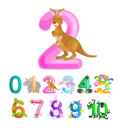 Ordinal number 2 for teaching children counting vector