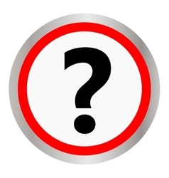 Question icon on white background vector image vector image