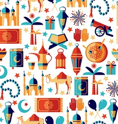 Ramadan Kareem icons set of ArabianSeamless vector image vector image