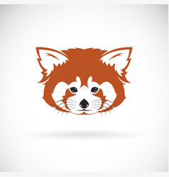 Red panda head design on white background wild vector