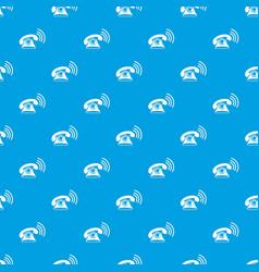 retro phone pattern seamless blue vector image vector image