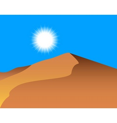 sand dunes vector image vector image