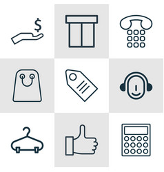 Set of 9 e-commerce icons includes recommended vector