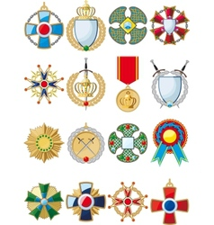 set of various medals vector image vector image