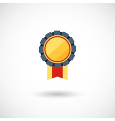 symbol of the winner badge with tapes vector image vector image
