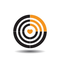 target with a heart in the middle the fourth part vector image