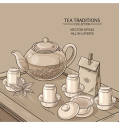 Tea ceremony llustration vector