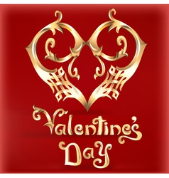 Valentines Day card with a heart vector image vector image