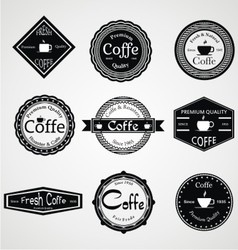 Vintage coffe labels vector