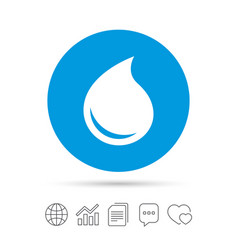 water drop sign icon tear symbol vector image vector image